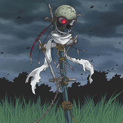 Scrap-iron-scarecrow