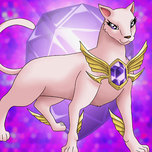 Crystal Beast Amethyst Cat